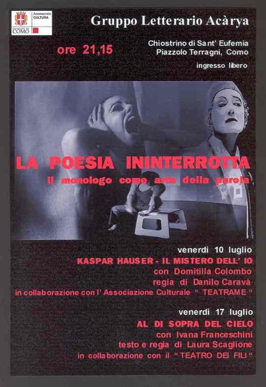 la poesia ininterrotta locandina ediz. 2