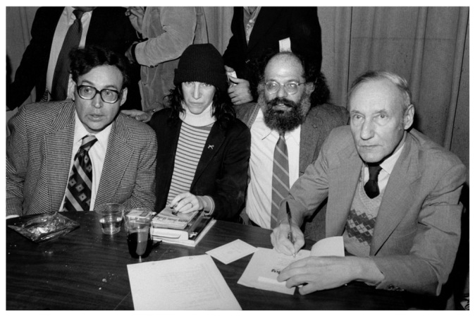 Carl_Solomon,_Patti_Smith,_Allen_Ginsberg_and_William_S._Burroughs