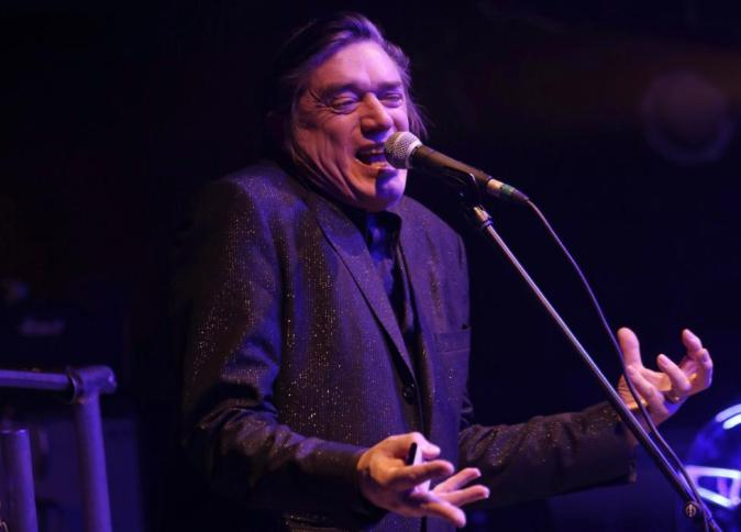German band Einstuerzende Neubauten performs on stage in Prague