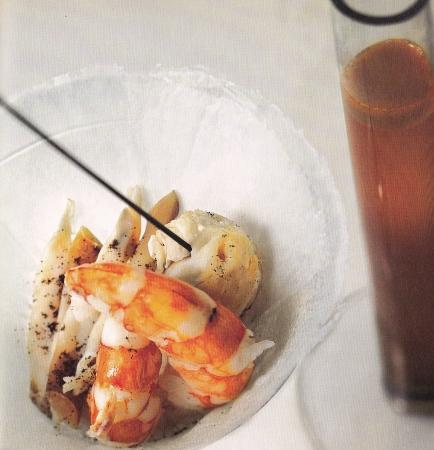 crostacei e frutti di mare con zappetta al caffè