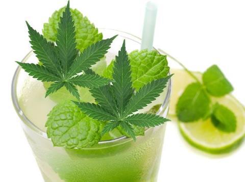 cocktail cannabis-mojito